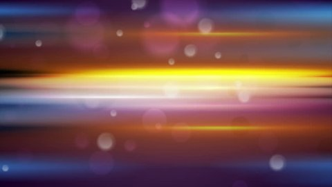 Colorful glowing stripes and bokeh light particles motion background. Seamless loop. Video animation Ultra HD 4K 3840x2160