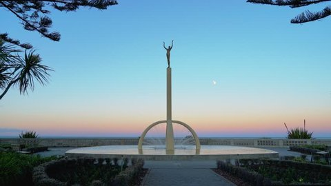 Spirit of Napier also known as Gilray Fountain - the Iconic Statue Symbolizes City Rising from the Ashes after the 1931 Earthquake