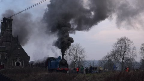 York, Yorkshire / England - March 03, 2019: Steam trains in the UK have increased in popularity and a mostly run as a charity 4K England.