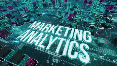 Marketing Analytics with digital technology concept