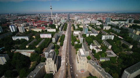 Aerial Germany Berlin June 2018 Sunny Day 15mm Wide Angle 4K Inspire 2 Prores  Aerial video of downtown Berlin in Germany on a sunny day with a wide angle lens.