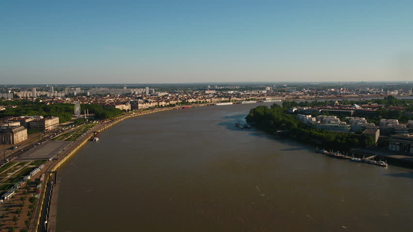 Aerial France Bordeaux June 2018 Sunny Day 30mm 4K Inspire 2 Prores  Aerial video of downtown Bordeaux in France on a sunny day. | Shutterstock HD Video #1025573582