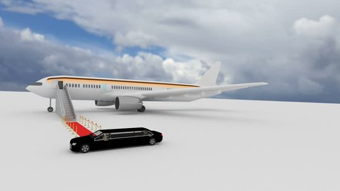 Airport VIP Stretch limousine shuttle service