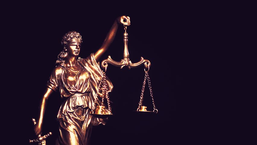 Themis, goddess of law, with measuring scale. Greek symbol of justice and order. | Shutterstock HD Video #1025722802