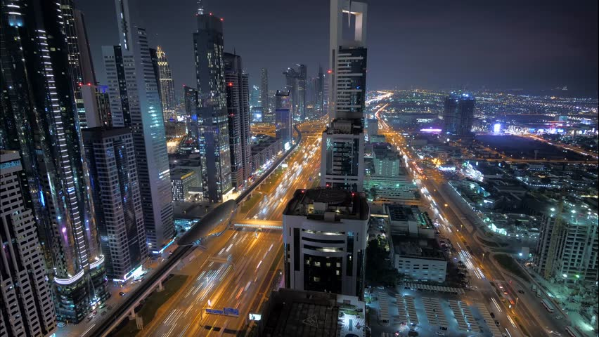 Rush Hour Traffic Jam of Cars Commuting in Corporate Business Finance District | Shutterstock HD Video #1025734562