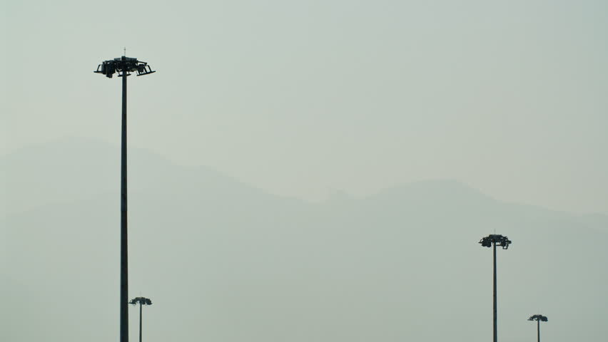 Airplane takes off from Hong Kong Airport. | Shutterstock HD Video #1025860292
