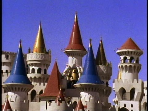 LAS VEGAS, NEVADA, 1994, Excalibur Hotel, turrets, no people, Las Vegas Strip