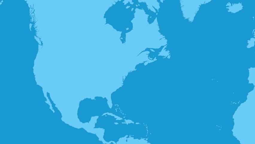 New York to Barcelona Flight Travel Route | Shutterstock HD Video #1025966012