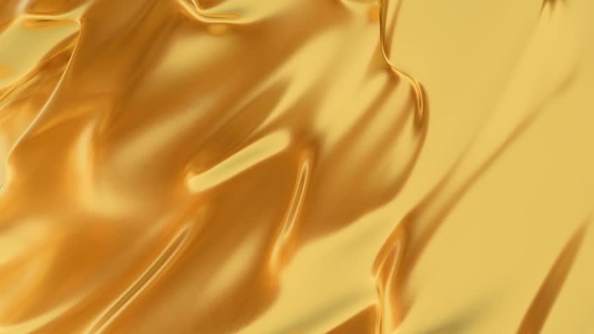 Abstract gold liquid. Golden wave background. Gold background. Gold texture. Lava, nougat, caramel, amber, honey, oil. | Shutterstock HD Video #1026048452