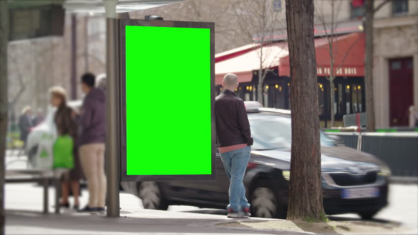 Street bilboard advert - green key | Shutterstock HD Video #1026049952