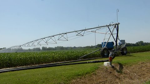 Equipment for irrigation of agricultural fields