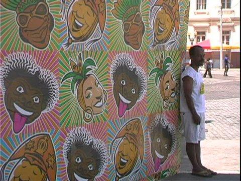 SALVADOR DE BAHIA, BRAZIL, 2004, Carnival, posters of Carmen Miranda
