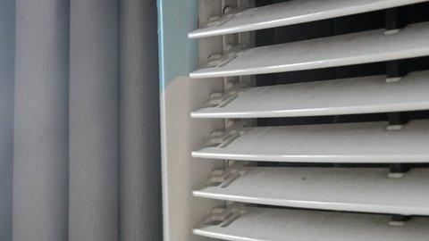 Working Air Cooler inside a flat (Close up shot)