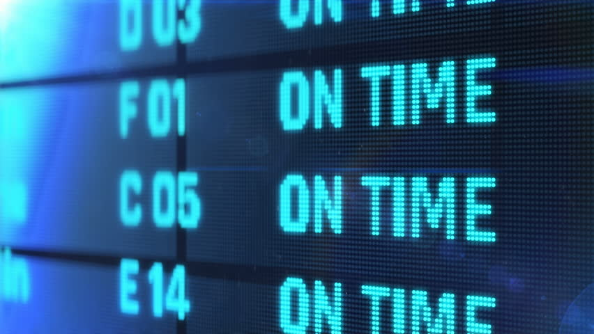 Flight status changes to delayed and canceled, bad weather conditions, accident.  Device screen with airport flight information  | Shutterstock HD Video #1026396602