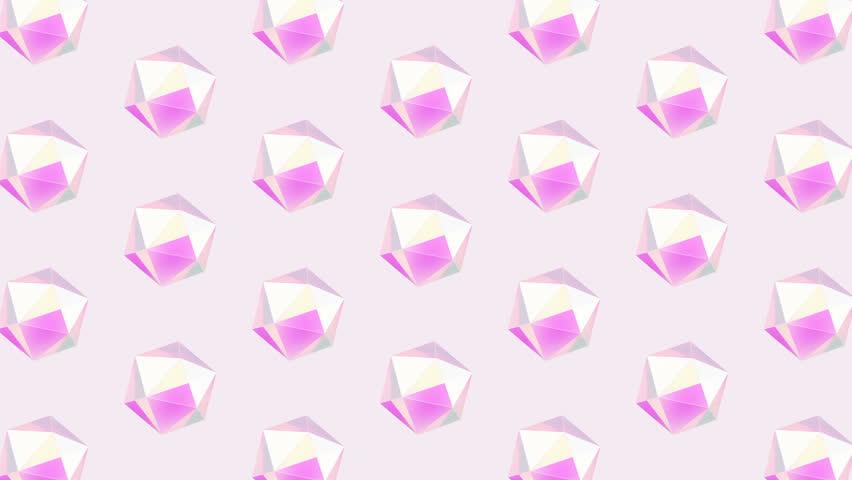Gif animation art. 3d geometric object abstraction pattern design | Shutterstock HD Video #1026542762