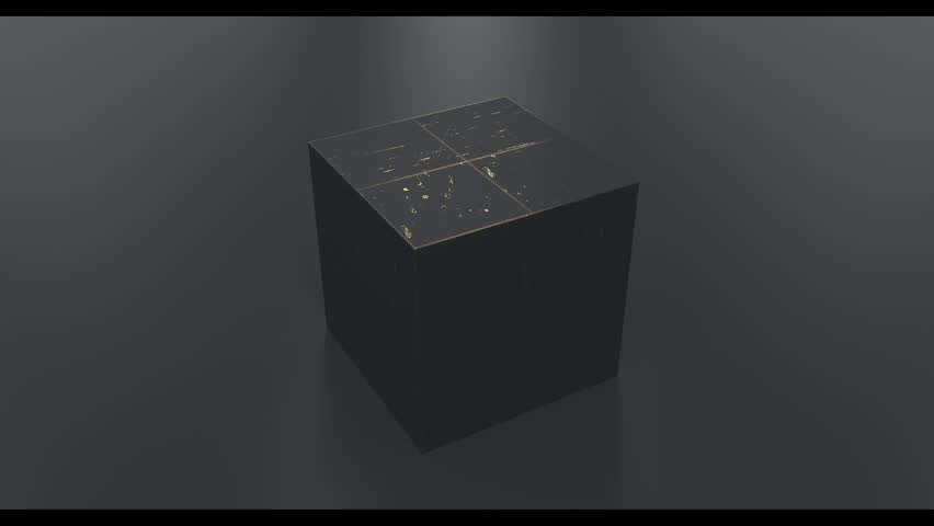Bright colored balls falling into a gift box on a black background. Render video with multi-colored round balls flying in a black box. Moving and turn camera | Shutterstock HD Video #1026637142