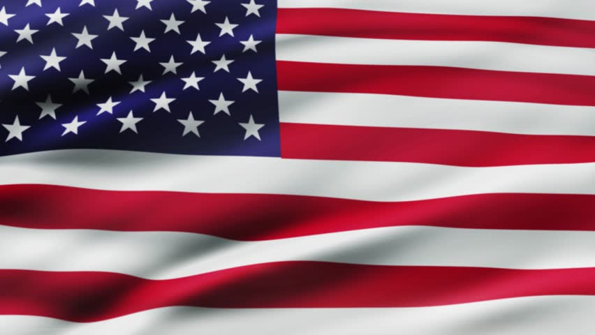 American flag waving in wind video footage  Realistic USA Flag background. American Flag Looping Closeup