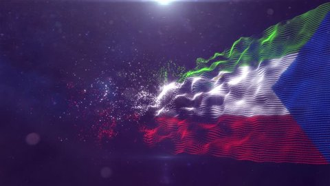 Equatorial Guinea Flag animation 3d render