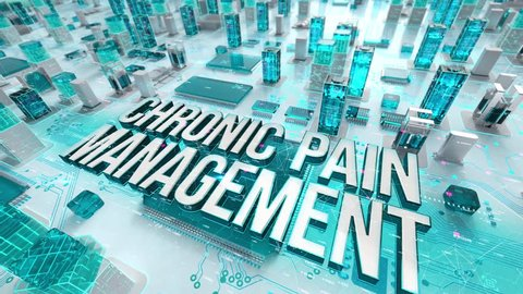 Chronic Pain Management with medical digital technology concept