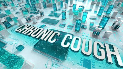 Chronic Cough with medical digital technology concept