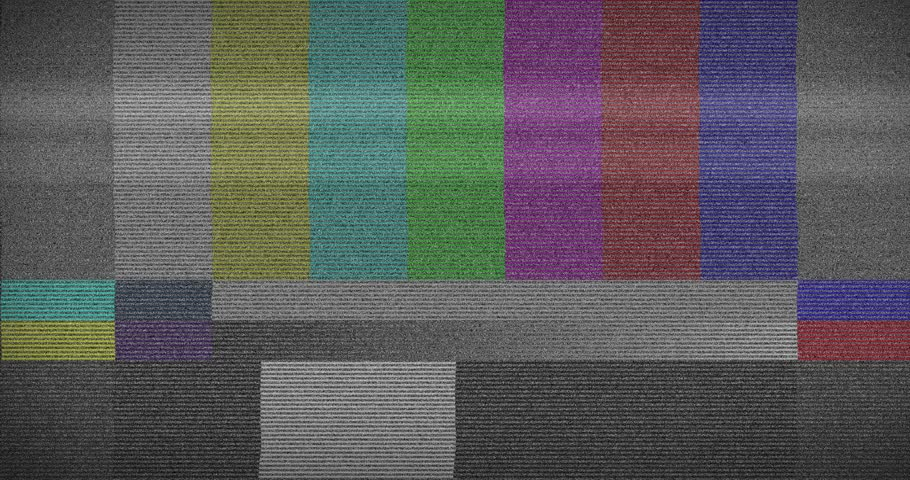 Bad old TV station off air analog glitch. VFX 4K shot.   | Shutterstock HD Video #1026733022