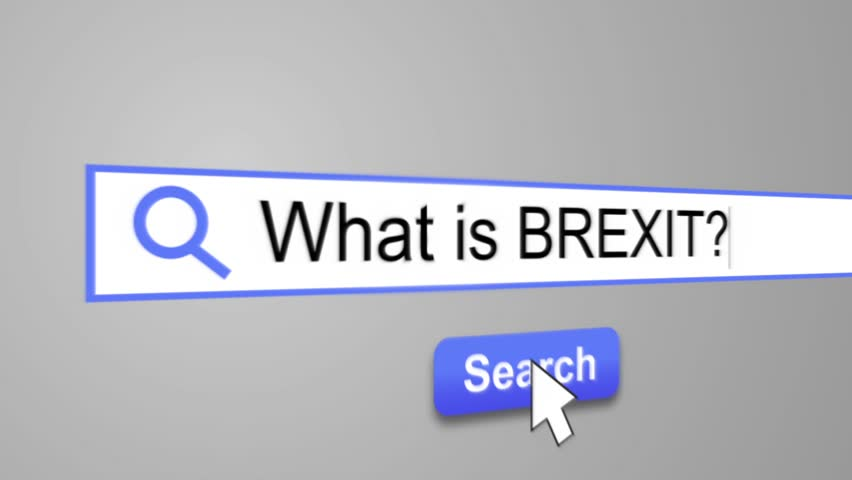 """""""What is BREXIT"""" Typing into Search Engine on Computer Screen. Internet Search Engine Screen Close-Up 