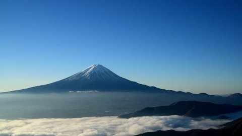 Mount Fuji and a sea of clouds