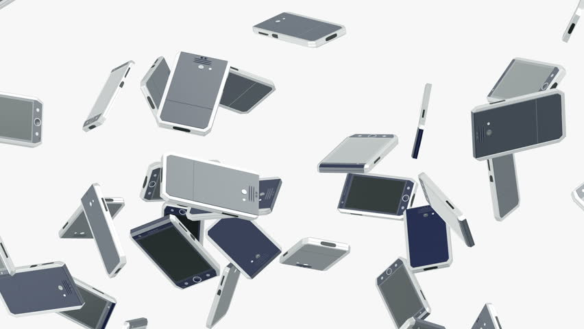 Flying smartphones. Looping. Alpha channel is included.My own design.   Shutterstock HD Video #10270373