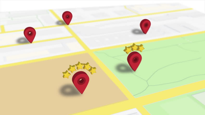 Favourite Location Rating Popular Pin On Map Animation #1027046252