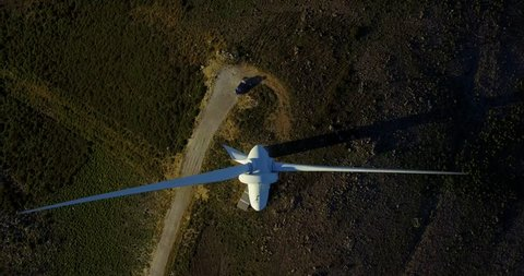 Wind Power from above in Portugal
