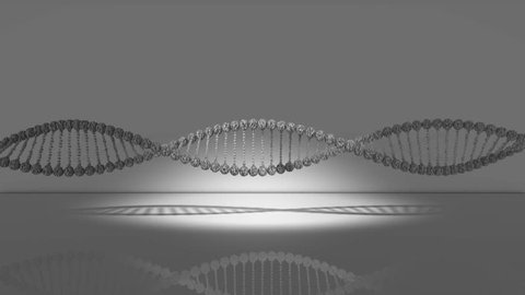DNA double helix cog gear wheels spinning machinery of life 3D render