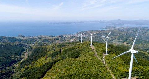 Wind power generation in Nagashima town, Kagoshima