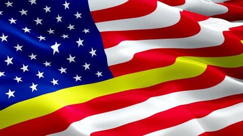 911 Responder flag video waving in wind. Realistic Emergency medical responder Flag background. 911 Responder Flag Looping Closeup 1080p Full HD 1920X1080 footage. Medical 911 Responder enforcement