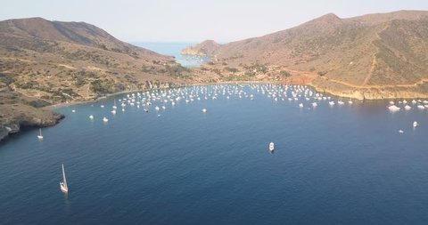 Beautiful 4k drone footage of Two Harbors, Catalina Island