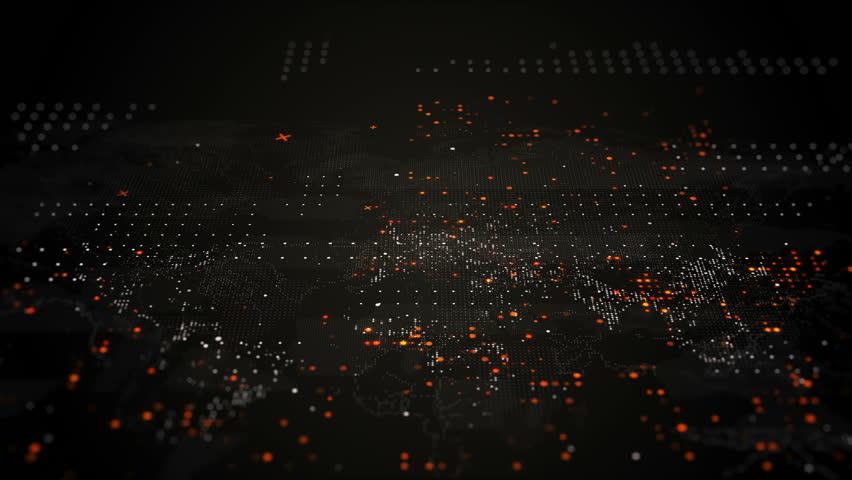 Technology World map | Shutterstock HD Video #1027420892
