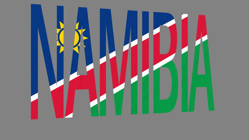 Namibia flag Footage | Stock Clips