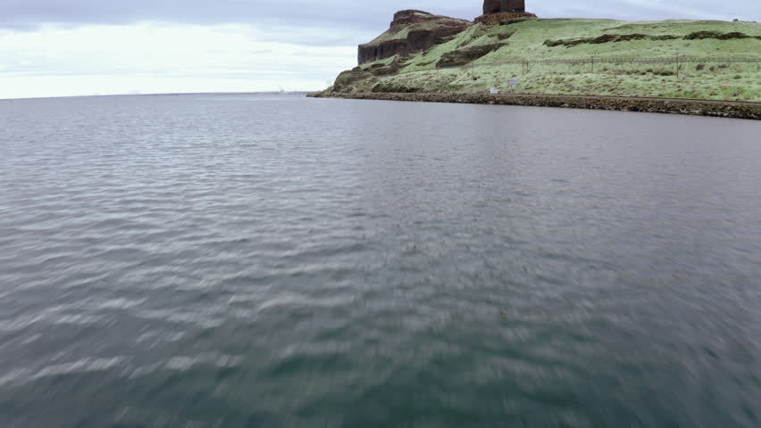4k drone footage of truck driving along gorgeous coastline road. | Shutterstock HD Video #1027535732