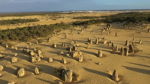 The Pinnacles Desert in the Nambung National Park, Western Australia