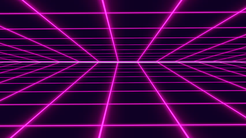 Purple Retro-futuristic 80s Synthwave Grid Stock Footage Video (100%  Royalty-free) 1027583732 | Shutterstock