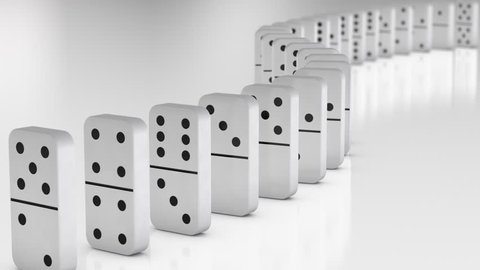 domino effect falling White
