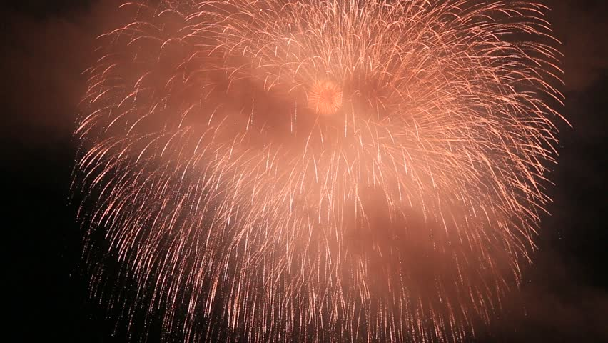 Fireworks display is a typical summer scene in Japan.   Shutterstock HD Video #1027997222