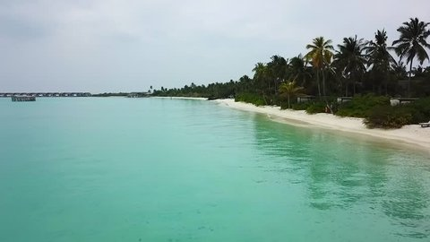 Maldives Beautiful Beach Background White Sandy Tropical Paradise Island