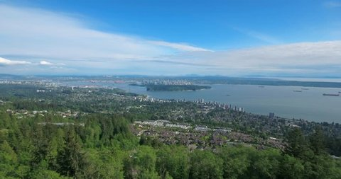 VANCOUVER, CANADA. Big city perched on the edge of wilderness. Spectacular wildlife vista of nature within British Columbia.