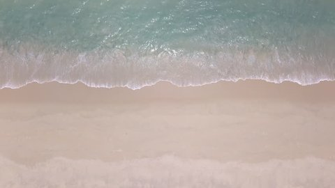 Top view Clean and beautiful beach Phuket Thailand