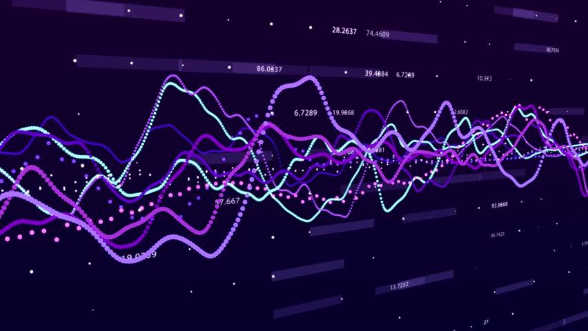 Stock market graph. Big data visualization. investment graph concept. 3d rendering.   Shutterstock HD Video #1028244482