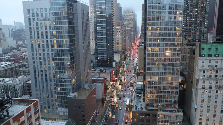 New York City, Time Lapse, Cars and Lights, Sunset and Night  | Shutterstock HD Video #1028247632