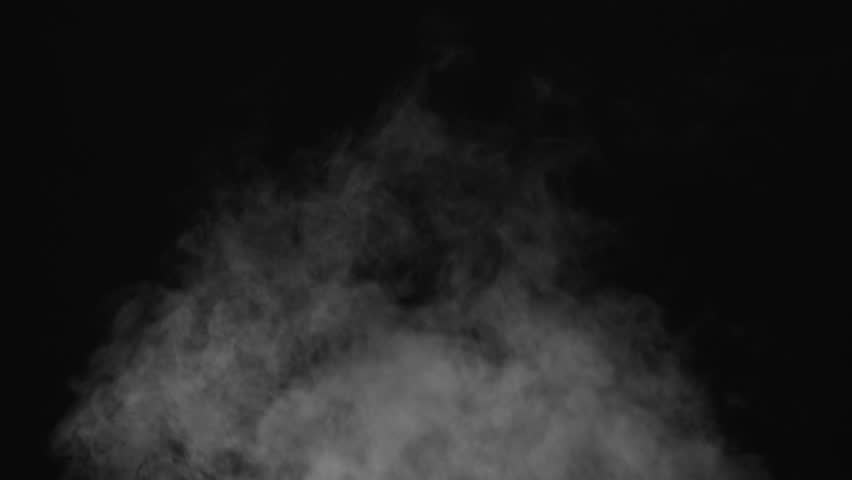 White water vapour on a black background. Close-up shot 4k | Shutterstock HD Video #1028265302