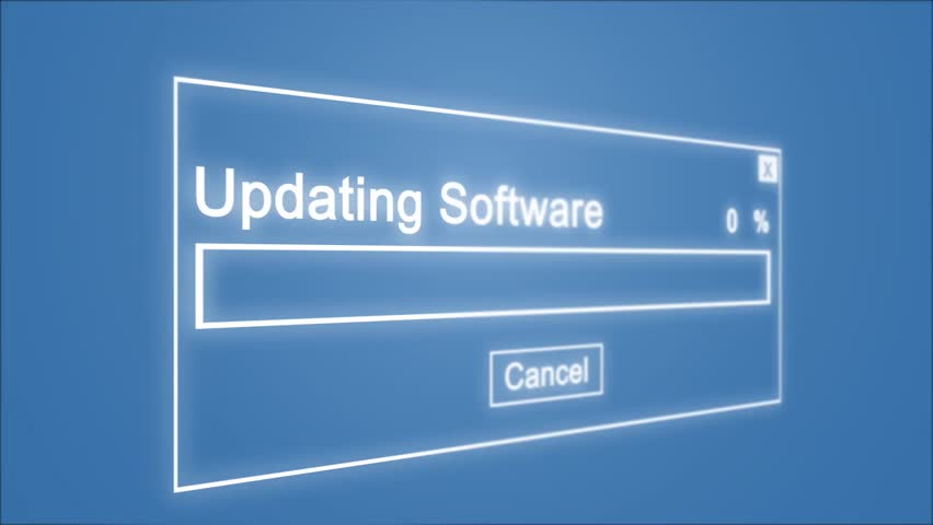 Updating Software Process Animation on Blue Background | Shutterstock HD Video #1028308502
