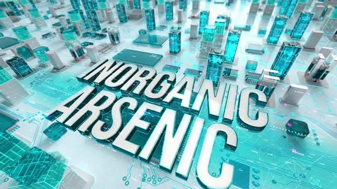 Inorganic Arsenic with medical digital technology concept