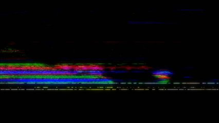VHS real Defects Noise and Artifacts, Glitches from an Old Tape